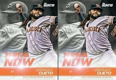 2x 2018 THEN & NOW JOHNNY CUETO Topps Bunt Digital Card