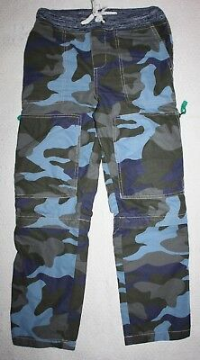 C2 Mini Boden Size 9 Camo Zip Off Rib Waist Camouflage Pants Shorts Blue Gray