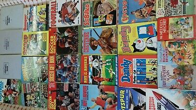 Comic and Soccer Annuals 60's 70's and 80's - Job Lot