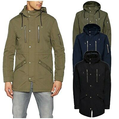Crosshatch Pyffan MVE Mens Stylish Long Sleeve Winter Quilted Down Jacket Coat