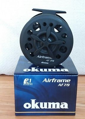 2 x Okuma Airframe Large Arbor Trout Fly Reels 4//6 line weight