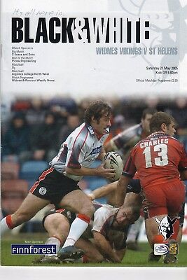 Widnes Vikings V St.helens Rugby League Programme 21/05/05