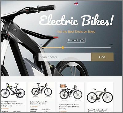ELECTRIC BIKES Website Earn £561.00 A SALE|FREE Domain|FREE Hosting|FREE Traffic