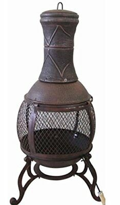 Large Metal Steel Outdoor Garden Patio Heater & BBQ Chimney/Chiminea-BB-CH701