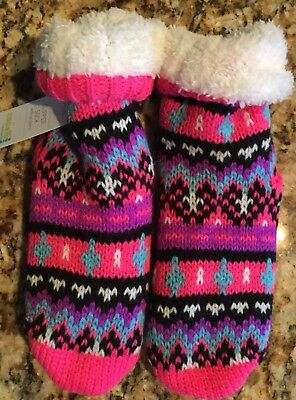 Nwt Capelli New York Kids Gripper Slipper Socks Size M/l- 7-8.5 ~ Shoe Size 13-5