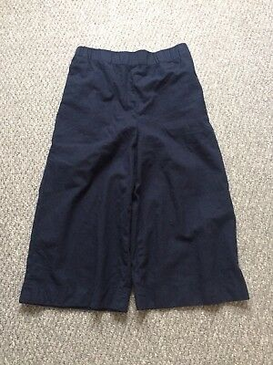 COS Wool Blue Culotte Trousers