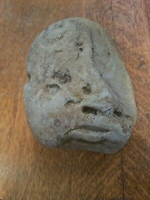 Ancient Rare Stone Artifact Effigy Human Face Ohio Find
