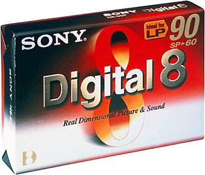 Sony Digital 8 Camcorder Video Cassette 60Min (LP 90Min) Kassette