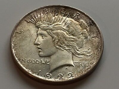 "United States 1922 ""Peace"" .900 Silver Dollar, 26.8g, W/ COA, Philadelphia Mint"
