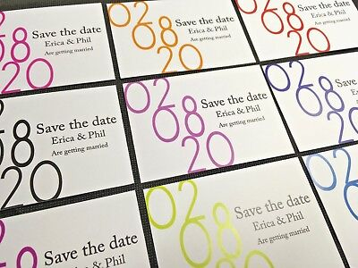 A7 Magnetic Save The Date Cards With C7 Envelopes, Wedding Invite Fridge Magnet
