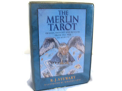 The Merlin Tarot Book And Cards R.J, Stewart Illustrated By Miranda Gray 1992