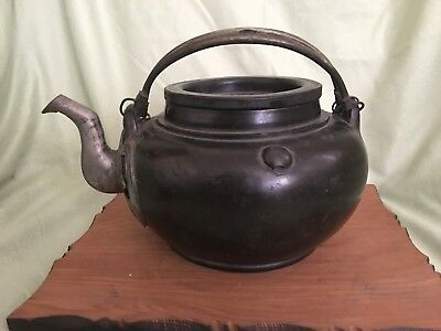 Antique Chinese Late Qing dynasty yixing clay teapot