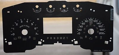 2011- 2014 Ford F150 - Small Window-Gauge Overlay / Faceplate Prndm21 For Sale