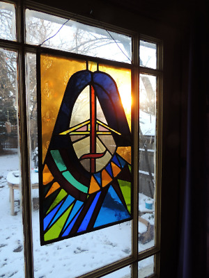 William Shakespeare JOHN LENNON or JESUS Vintage Leaded Stained Glass Window ART