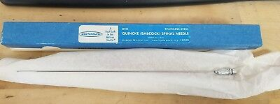 New PERFEKTUM 7325 Quincke babcock Spinal Needle reusable 18 gauge by 6 inch SS
