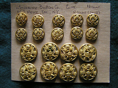 """414. WWII """"shadowbox/relief"""" style buttons for US Army Dress Blues."""