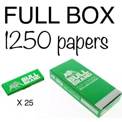 Bull Brand Full Box Papers Special Offer 25 Booklets 1250 Papers