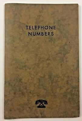 Vintage New York Telephone Company 1950's Book of Telephone Numbers Bell System