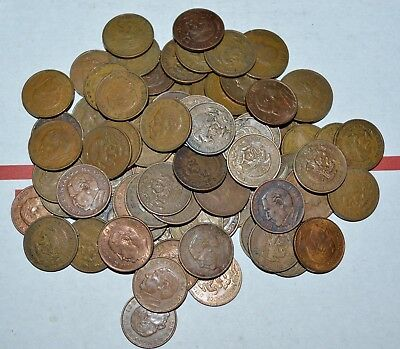 MEXICO lot UNSEARCHED 20 CENTAVOS vintage large world foreign snake 3 COINS