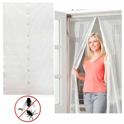 Magic Mesh White Hands-Free Screen Door magnets AS SEEN ON TV No Box Anti-bug