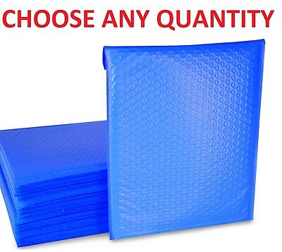 Blue Any Size Poly Bubble Mailers Shipping Mailing Padded Bags Envelopes Plastic