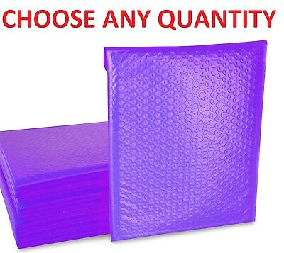 Purple Any Size Poly Bubble Mailers Shipping Mailing Padded Bags Envelopes