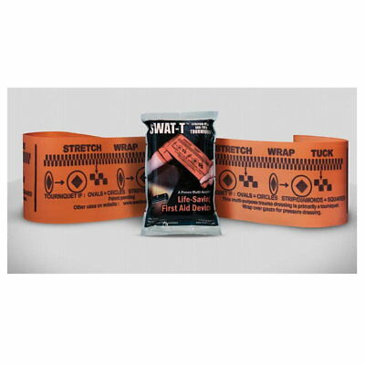 SWAT-T Orange Tuck Multi-Purpose Tourniquet with Tactical Combat Casualty Card