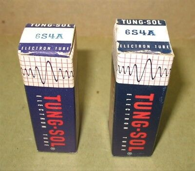 Matched Pair NOS Tung-Sol 6S4A  Tubes