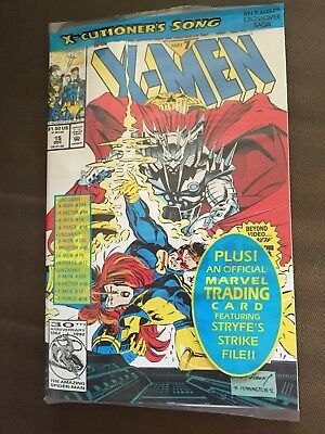 Factory Sealed *UNOPENED* X-MEN #15(SEALED WITH TRADING CARD) MARVEL COMICS 1992