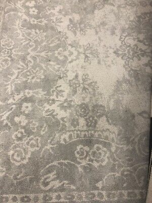 "New Pottery Barn Kids Monique Lhuillier Something Blue 5"" x 8' Wool Rug~Gray~"
