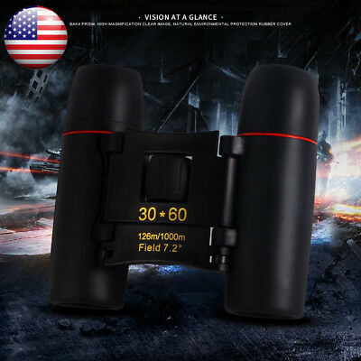 Portable Outdoors Travel Night Vision Telescope Mini 30x60 Binoculars Telescopio