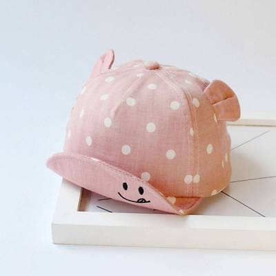 Dot Baby Caps Girl Boys Cap Summer Hats For Boy Infant Sun Hat With Ear Styliah