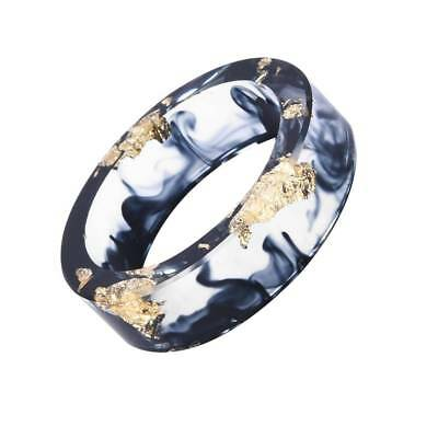 Gold Foil Paper Inside Resin Ring Women And Men Jewelry Colorful Handmade Ring