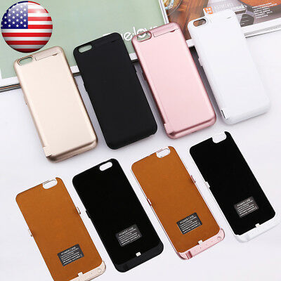 10000mAh Battery Power Bank Charger Charging Back Case for iPhone 6 Plus 6S Plus