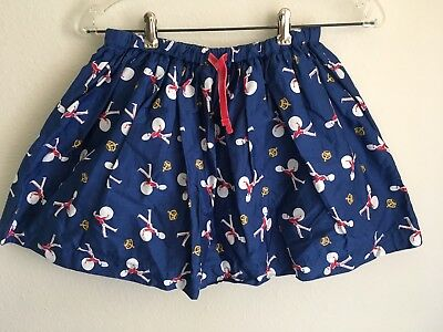 Mini Boden Skirt 9-10 Y Girls Navy Blue Red Marching Band Drummers Crown