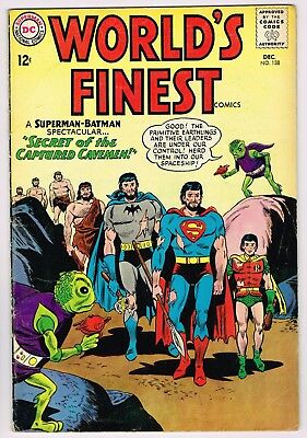 World's Finest Comics #138 - Dc Dec 1963 Excellent Comic Book -Batman, Superman!