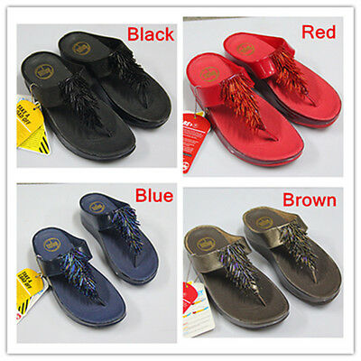 4542d20a22268 Fashion Woman FitFlop Tassels Body sculpting Slimming Sandals US Size 5 6 7  8 9