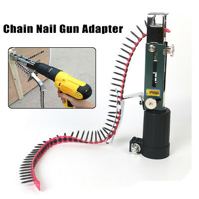 Automatic Screw spike Chain Nail Gun Adapter for Electric Drill Woodworking Tool
