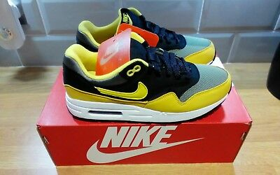 official photos 40418 a7346 Nike Air Max 1 Shoes Dark Stucco/Vivid Sulfur-Black yellow AH8145-001