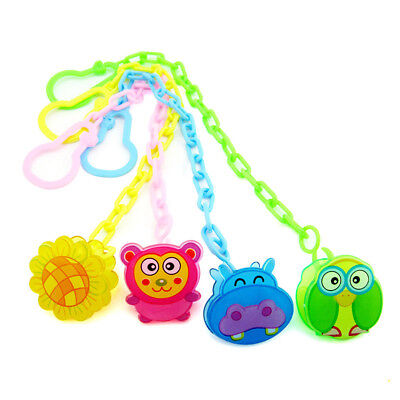 Baby Infant Toddler Dummy Pacifier Soother Spring Nipple Clip Chain Holder Strap