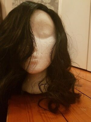 Synthetic black curly wig long BNWT