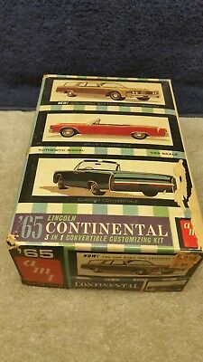 Vintage AMT '65 Lincoln Continental 3 in 1 Customizing Kit 1/25 Scale Boxed