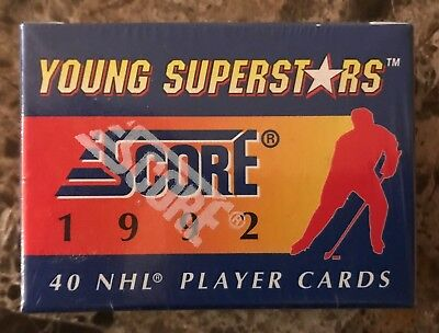 NHL Hockey 1992 Score Young Superstars Complete Set #1-40 Factory Sealed Mint