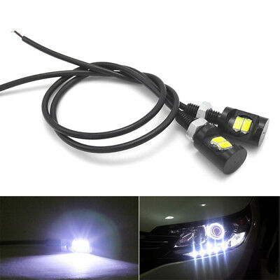 2pcs White LED SMD Motorcycle&Car License Plate Screw Bolt Light lamp bulb Gx