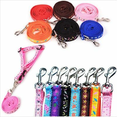 Multi Colors Small Dog Pet Puppy Cat Adjustable Nylon Harness with Lead leash