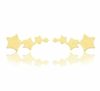 Star ear climber, earrings, ear cuff, 18ct Gold, Rose Gold or Silver