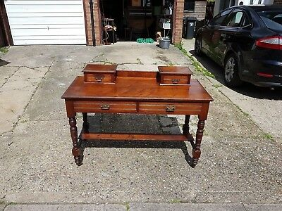 Victorian writing table, writing desk.