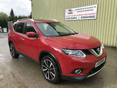2017 17 NISSAN X-TRAIL N-VISION 1.6 DCi 7 SEATER DAMAGED REPAIRABLE SALVAGE