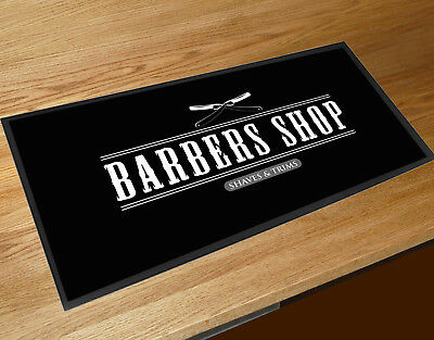 Black Barber shop cuts & shaves Barbers & hairdressers Shop Counter mat