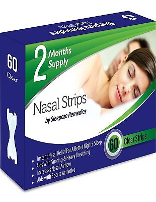 Nasal Strips Clear x60 By Sleepeze Remedies | Nose Strips To Stop Snoring
